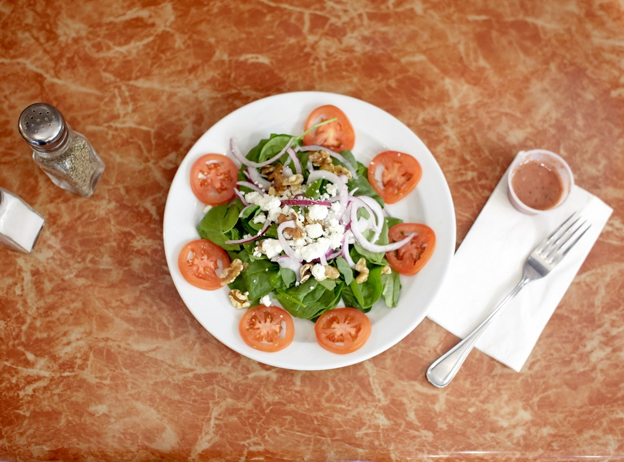 Spinach Salad with Raspberry Vinaigrette by Chef Amir Razzaghi
