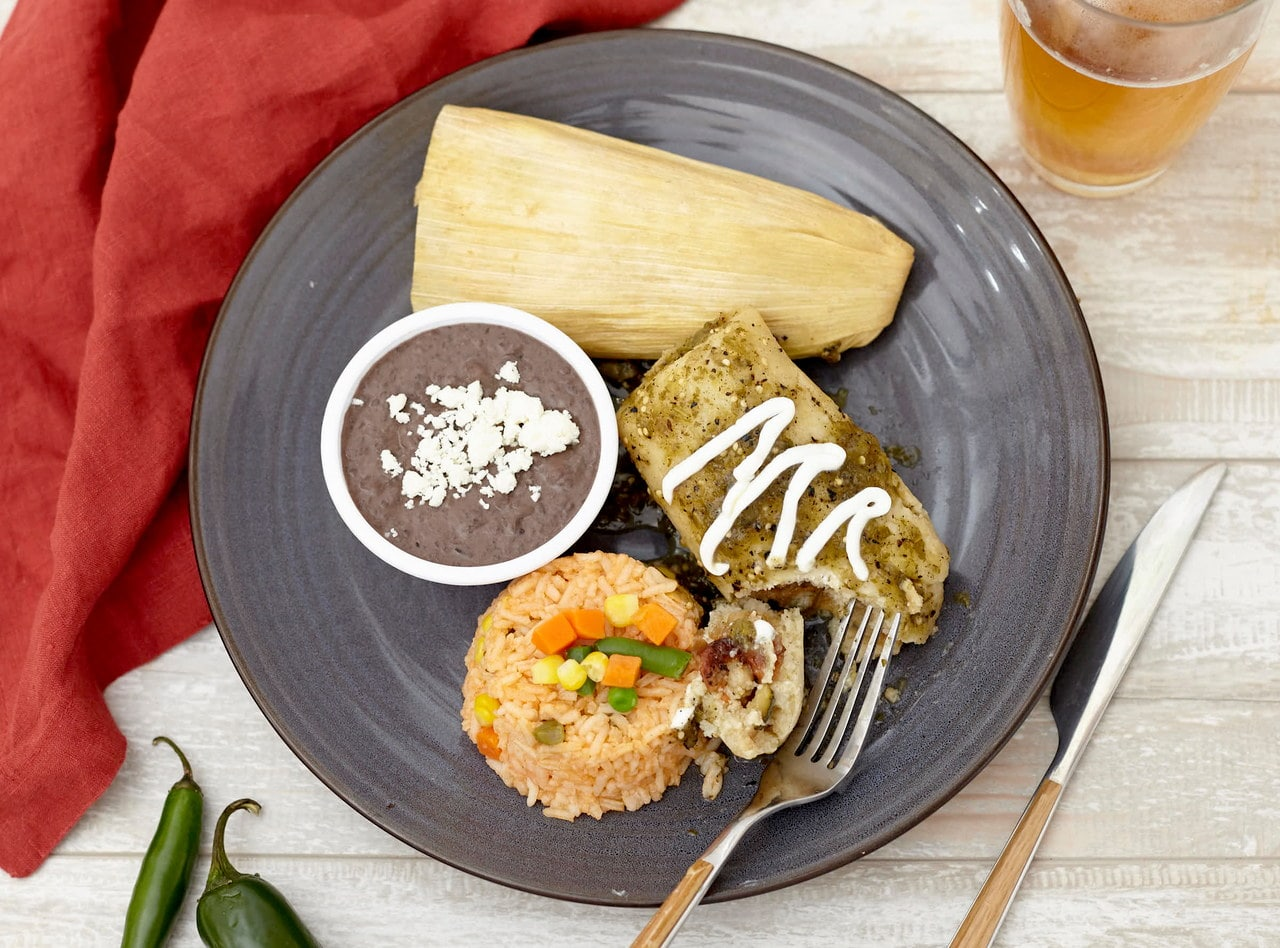 Chicken Tamales with Cactus Salad by Chefs Frankie & Edgar