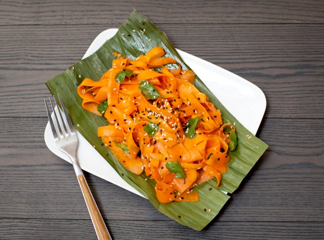 Persian Ribboned Carrot Salad by Chef Som Kesa