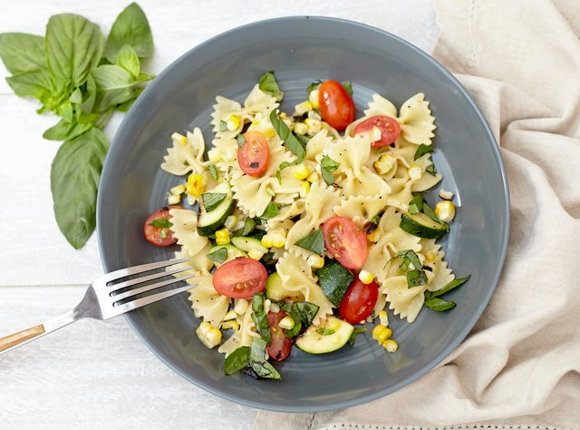 Summer Grilled Vegetable Pasta Salad by Chef Katie Cox