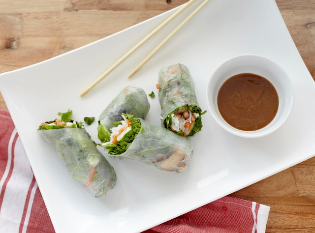Pork Spring Rolls with GF Honey-Lime Sauce by Chef John Tran