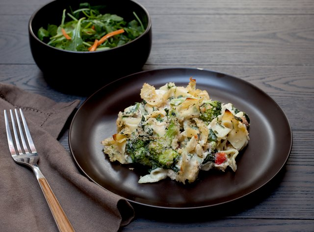 Chicken and Broccoli Noodle Casserole by Chef Katie Cox
