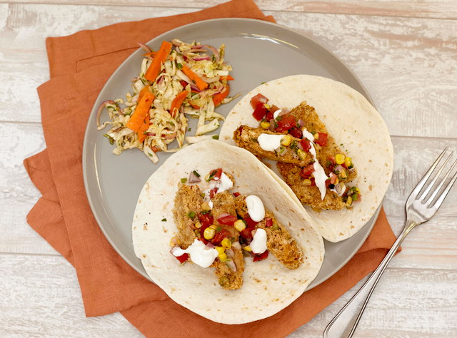 Spiced Vegetable Cake Tacos by Chef Steve Shafer