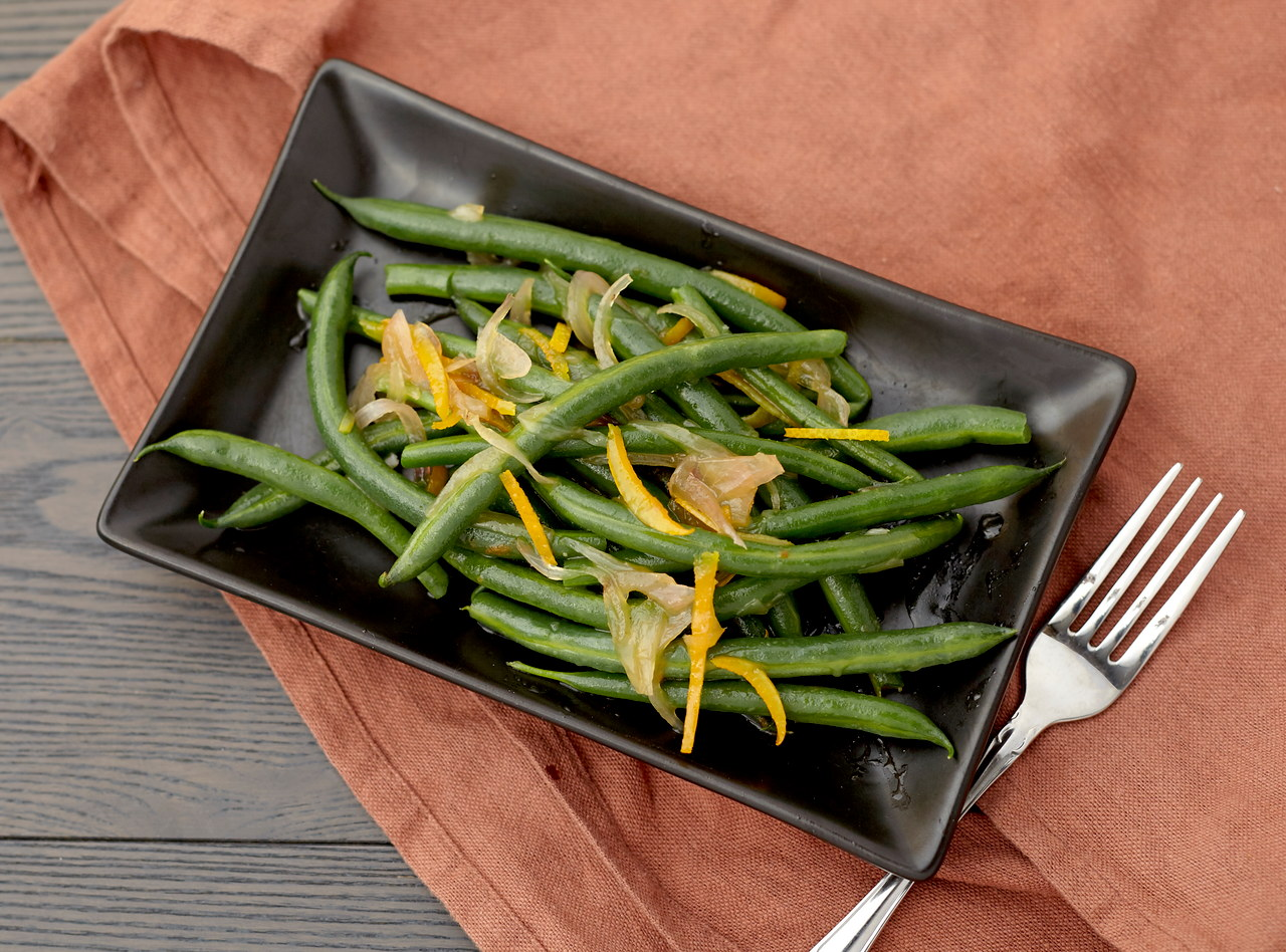 Green Beans with Citrus Vinaigrette by Chefs Frankie & Edgar
