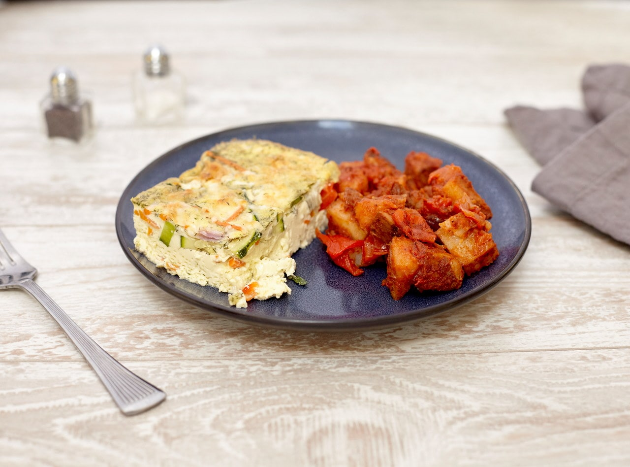 Jack Cheese and Vegetable Frittata by Chef Jenn Strange