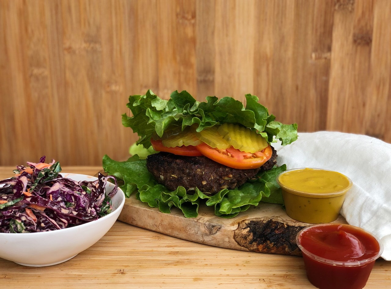 Lettuce Wrapped Ultimate Burger Meal by Chef Matthew Hunt