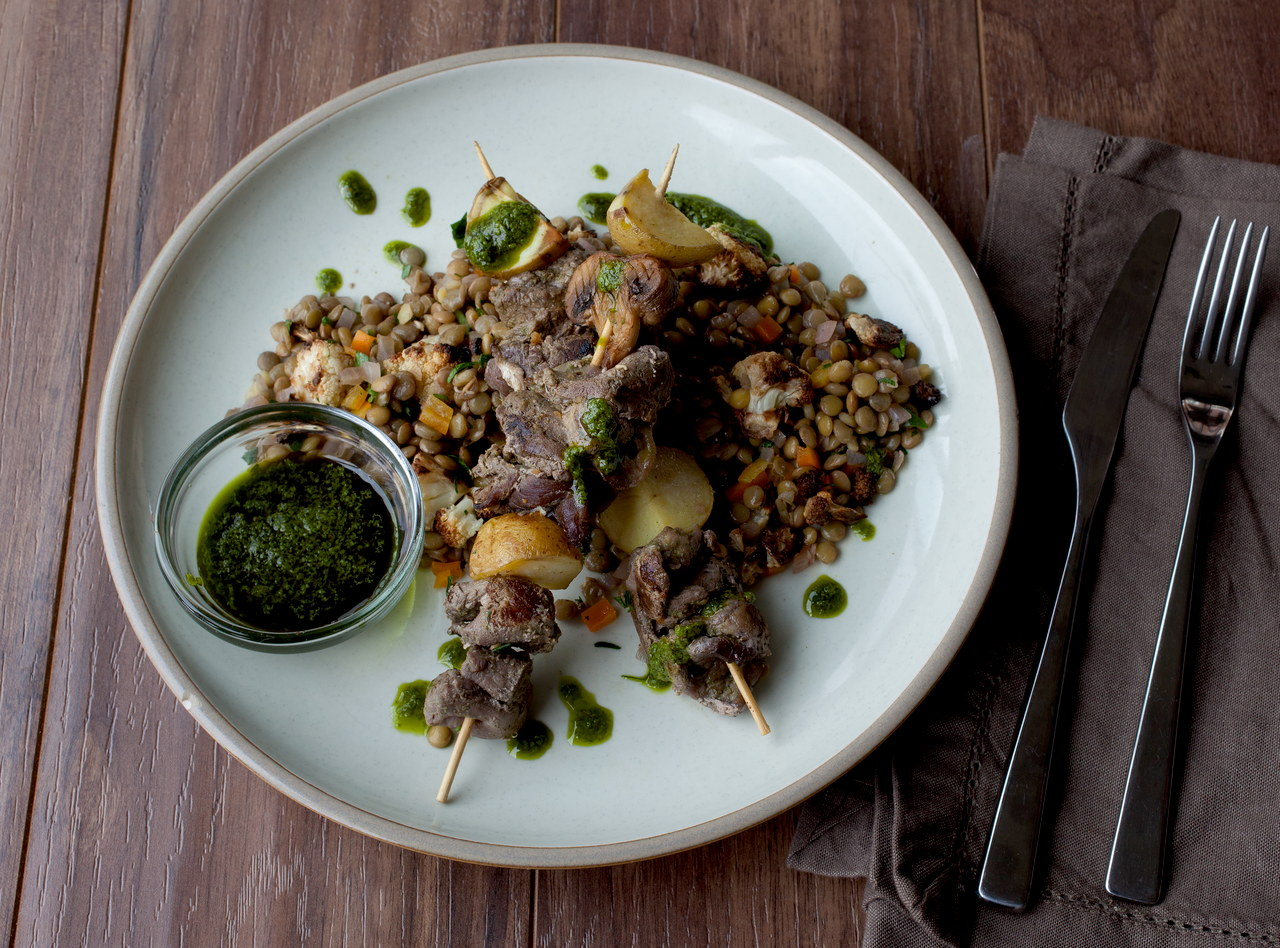 Chimichurri Beef & Vegetable Skewer by Chef Michelle Walker