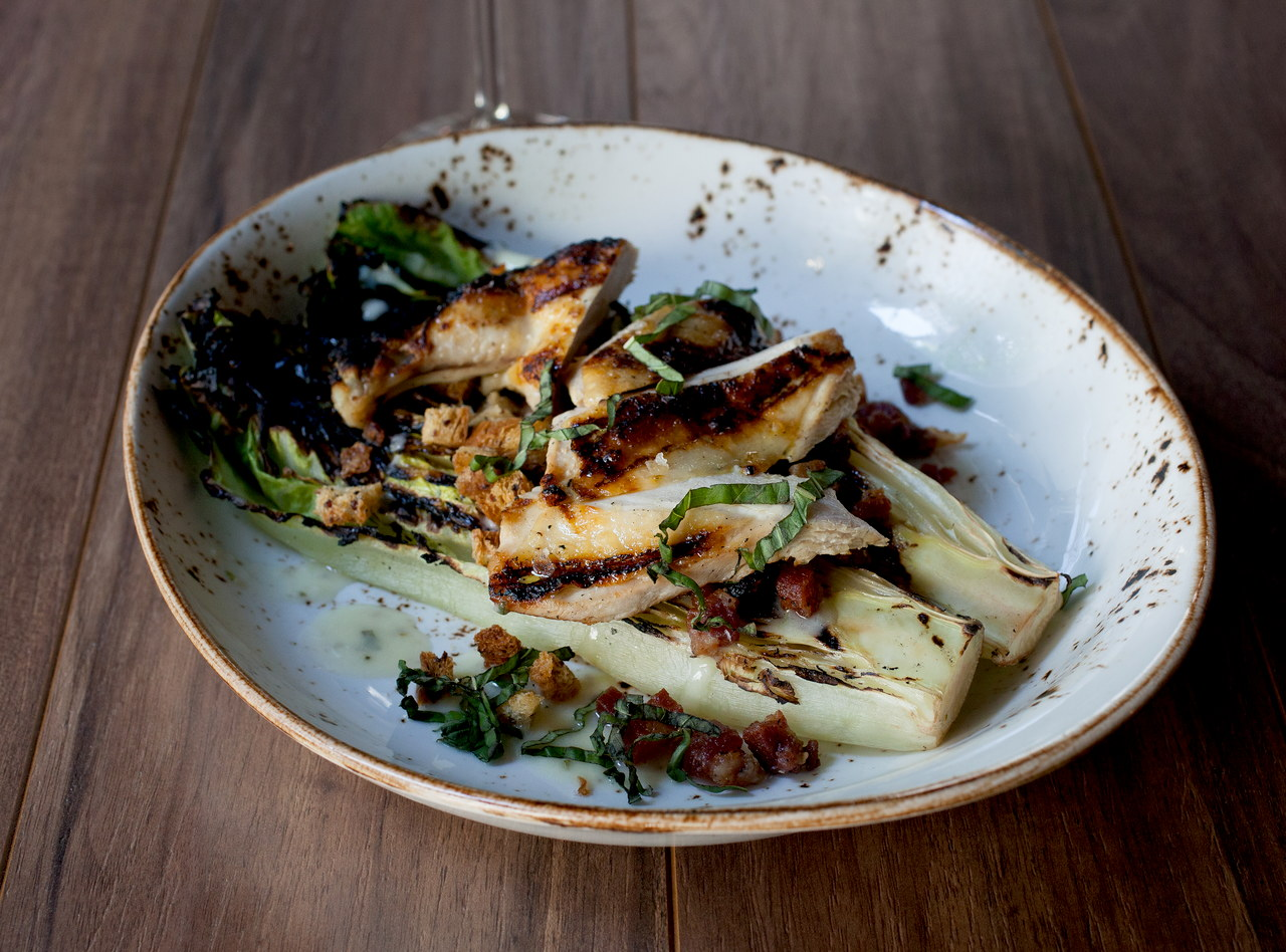Grilled Romaine with Chicken by Chef Jason Wilson