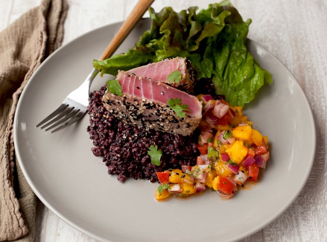 Seared Ahi with Mango-Ginger Salsa by Chef Steve Shafer