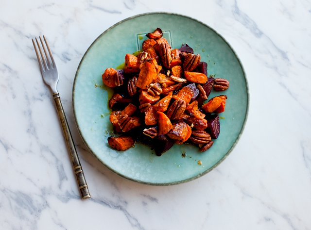 Roasted Beet & Carrot Salad by Chef Lisa Nakamura
