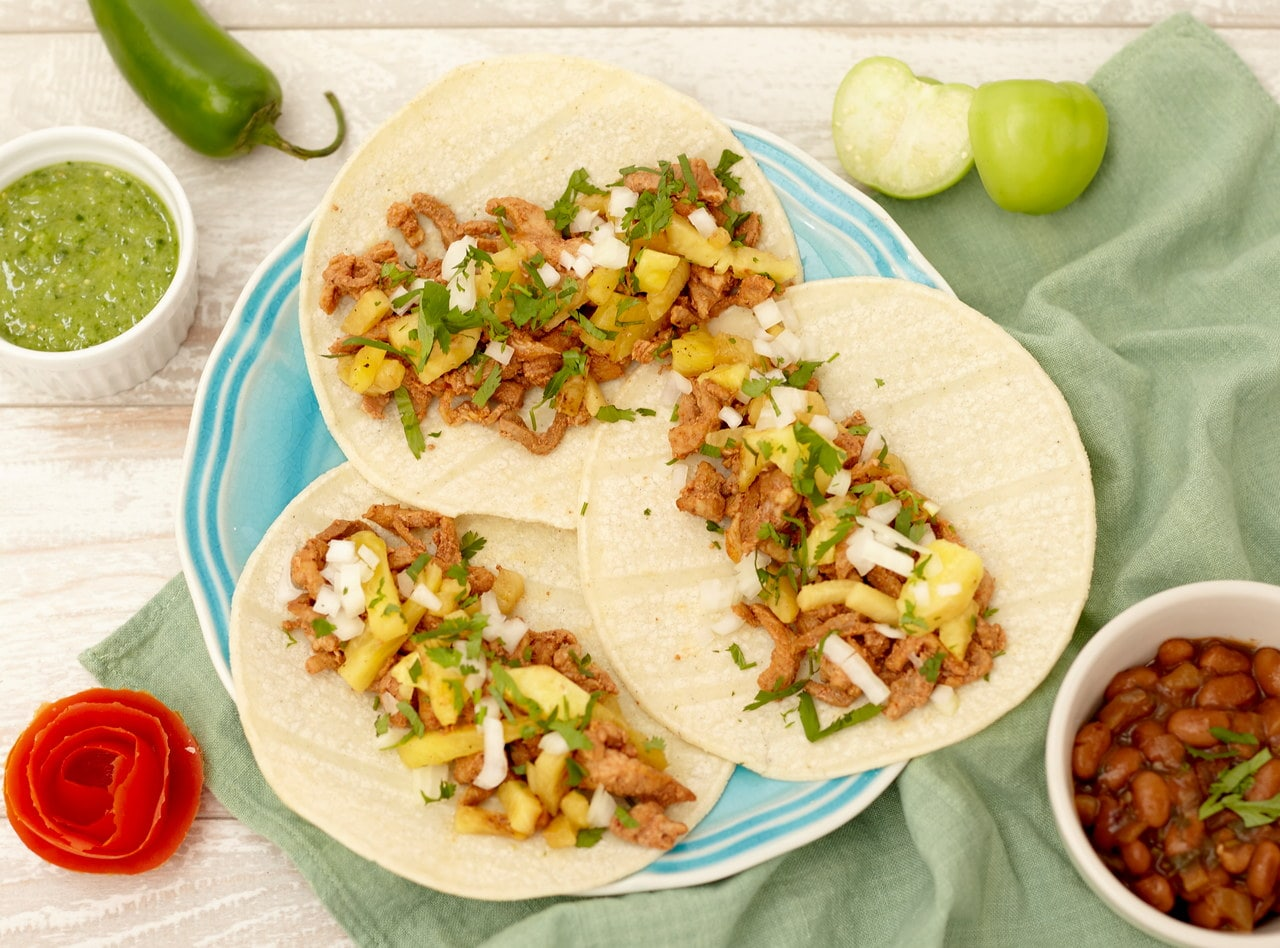 Gluten Free Al Pastor Tacos and Chips Boxed Lunch by Chefs Frankie & Edgar