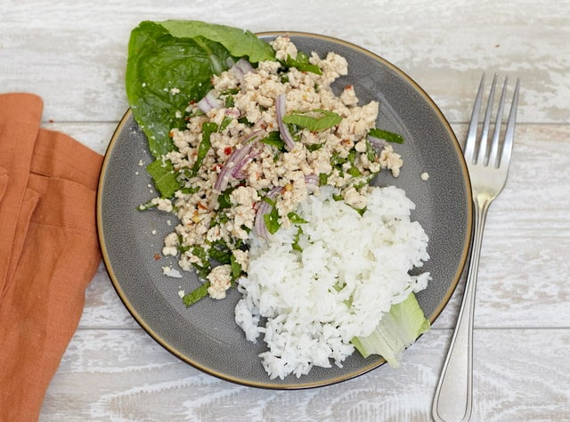 Larb Chicken by Chef Tanya Jirapol