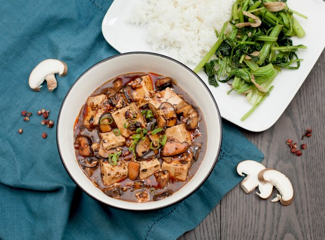 Mapo Tofu with Mushrooms by Chef Steve Shafer