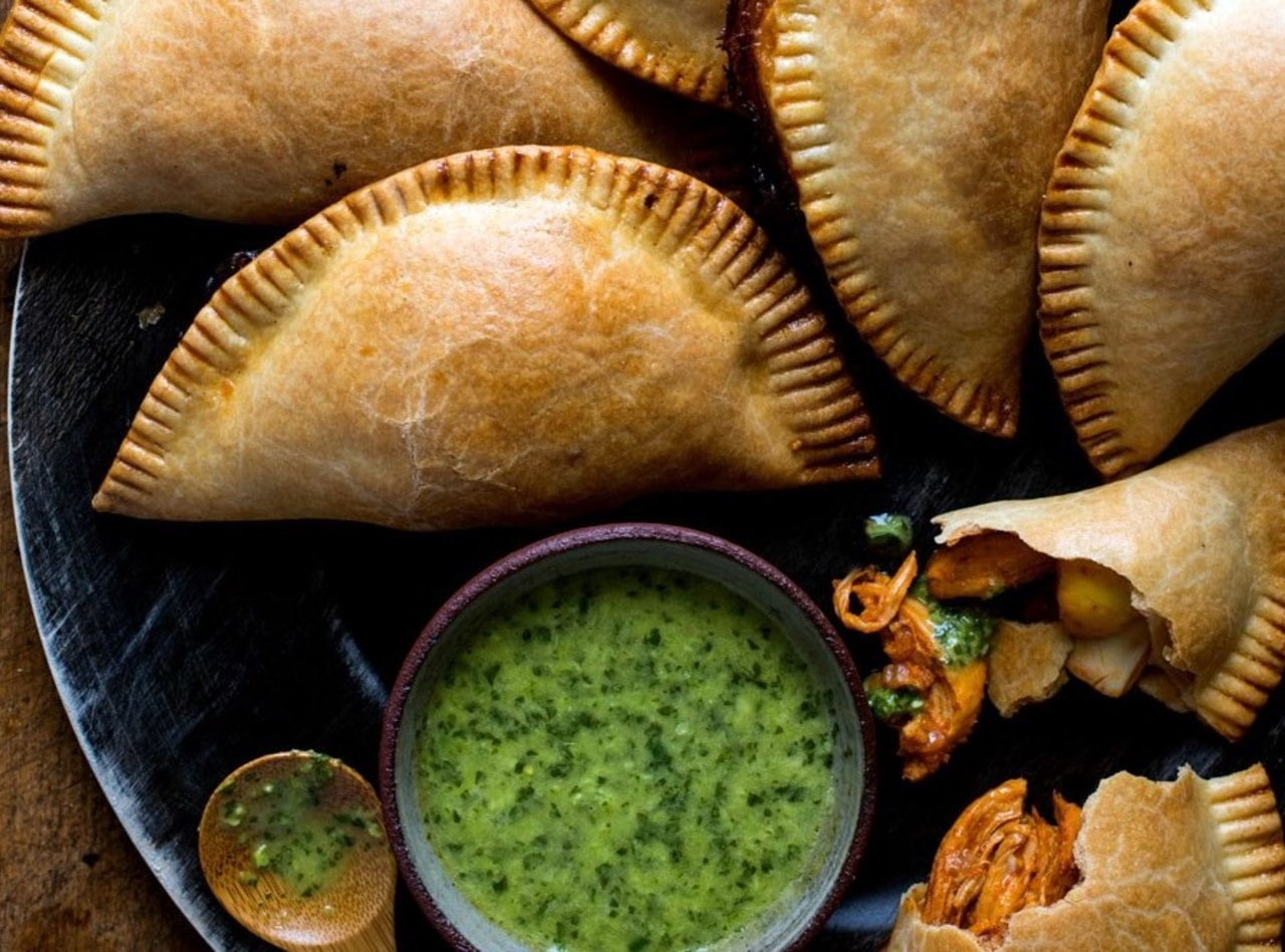 Vegetable Empanadas with Side Salad by Jack Rosenthal