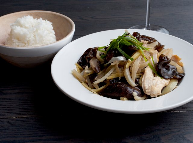 Ginger Chicken with Shitake & Black Mushrooms by Chef Max Borthwick