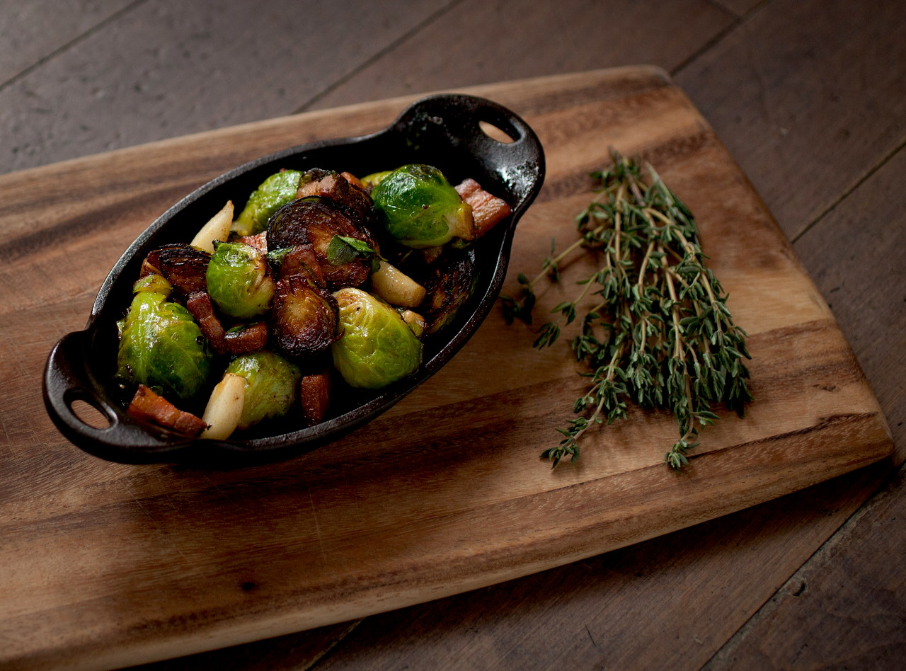 Roasted Brussels Sprouts and Parsnips with Bacon by Chef Ethan Stowell
