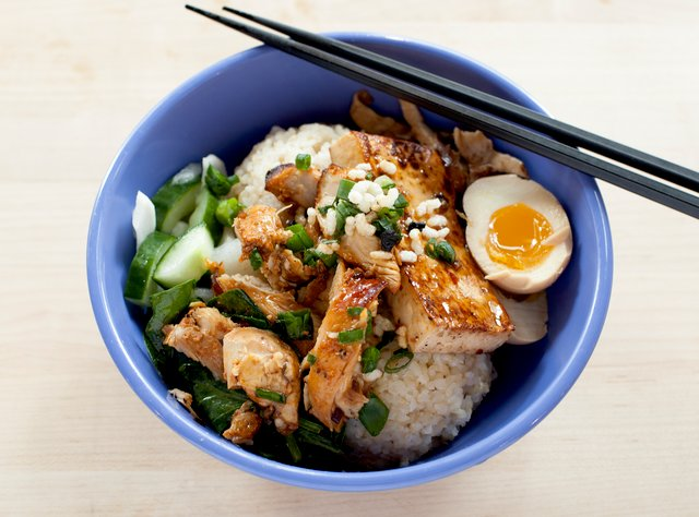Chicken and Tofu Rice Bowl by Chef Dan Carlone