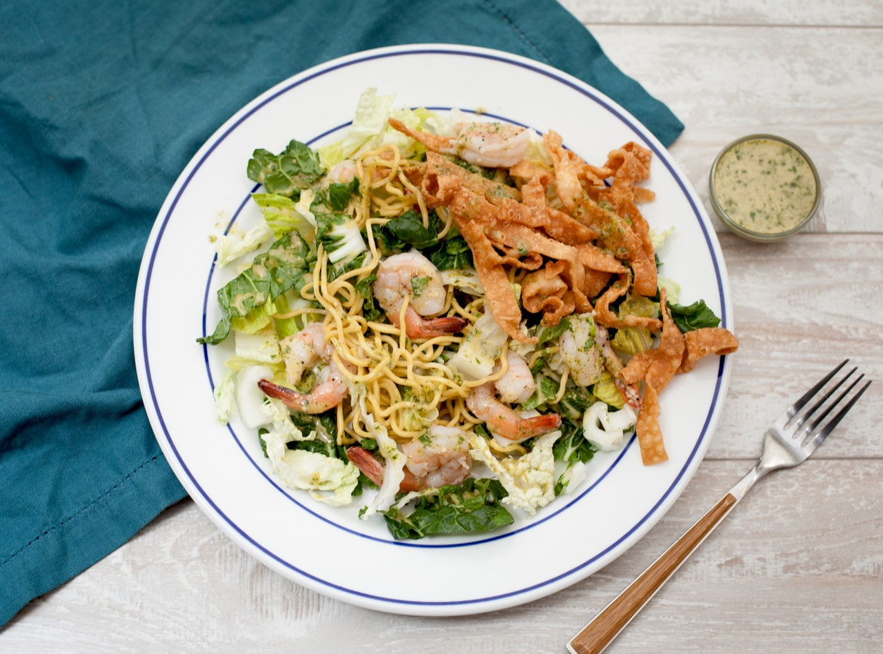 Thai Noodle Salad with Tofu and Crispy Noodles by Chef Tanya Jirapol