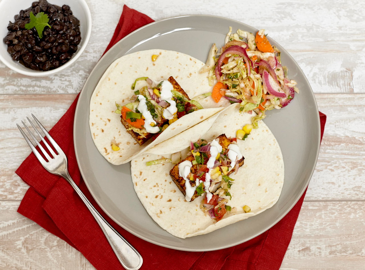 Blackened Tofu Tacos by Chef Steve Shafer