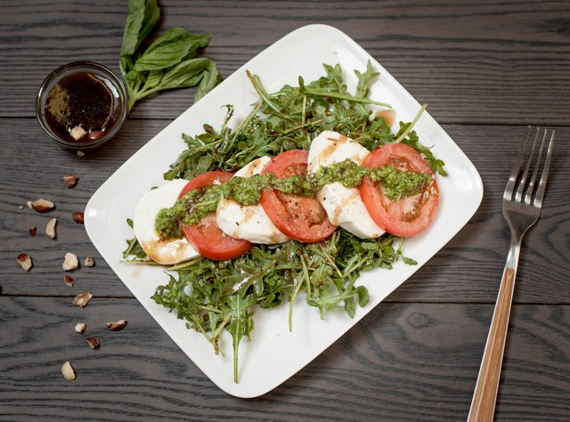 Caprese Salad with Hazelnut Pesto by Chef Jasmin Bell