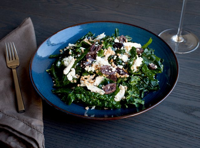 Kale Salad with Roasted Chicken and Farro by Chef Katie Peterson