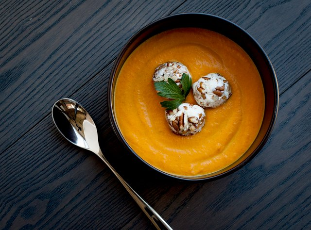 Curry Carrot Soup by Chef Lisa Nakamura