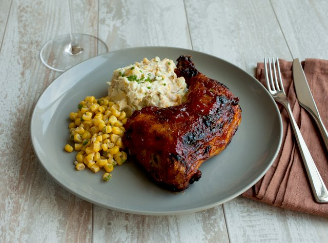 BBQ Chicken with Bacon Ranch Potato Salad by Chef Katie Cox