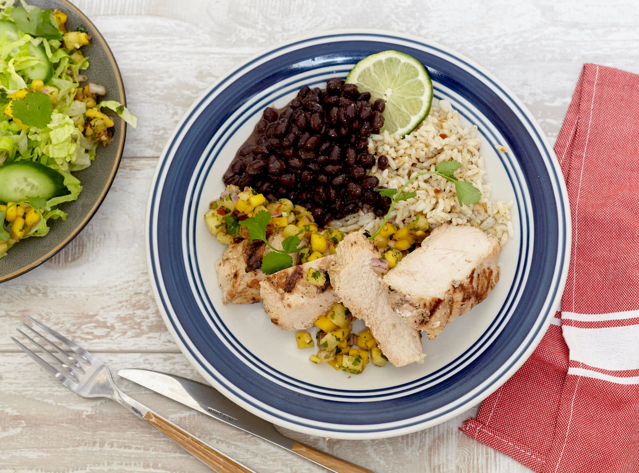 Mojo Chicken with Tropical Salsa Boxed Lunch by Chef Jenn Strange