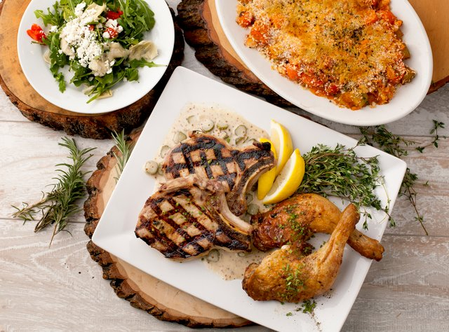 French Country Lunch with Mustard Pork Chops by Chef Aaron Andrews