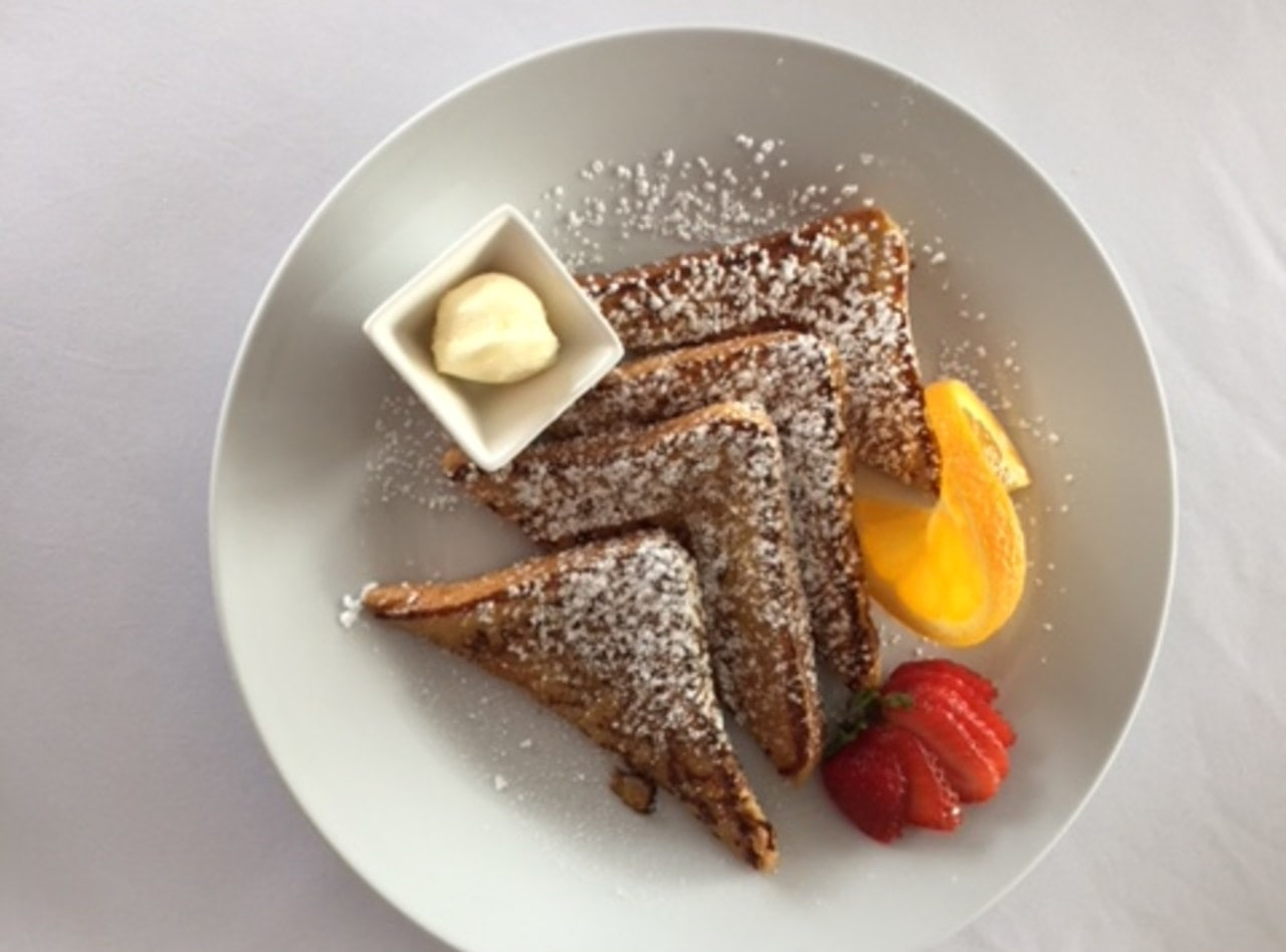 French Toast with Maple Syrup & Butter by Chef Audemar Leon & Team