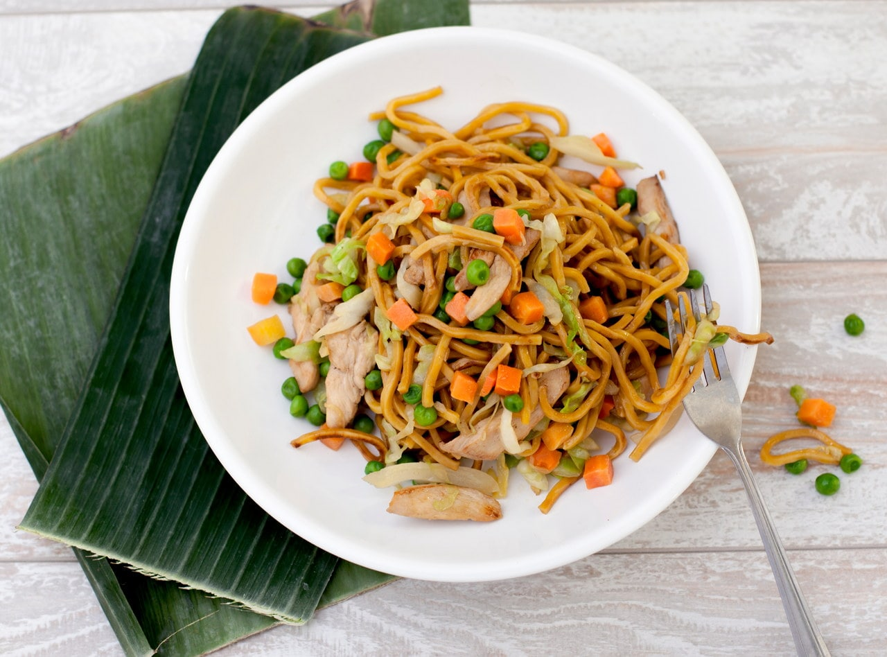 Kid's Chicken Yakisoba by Chef Tanya Jirapol