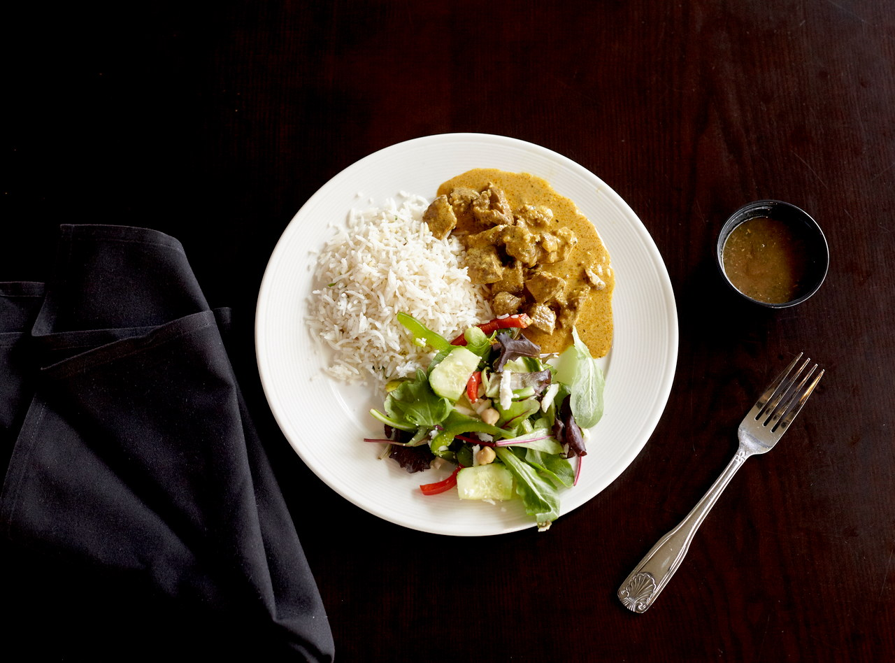 Lamb Coconut Curry Boxed Lunch with Naan by Chef Nitin Panchal