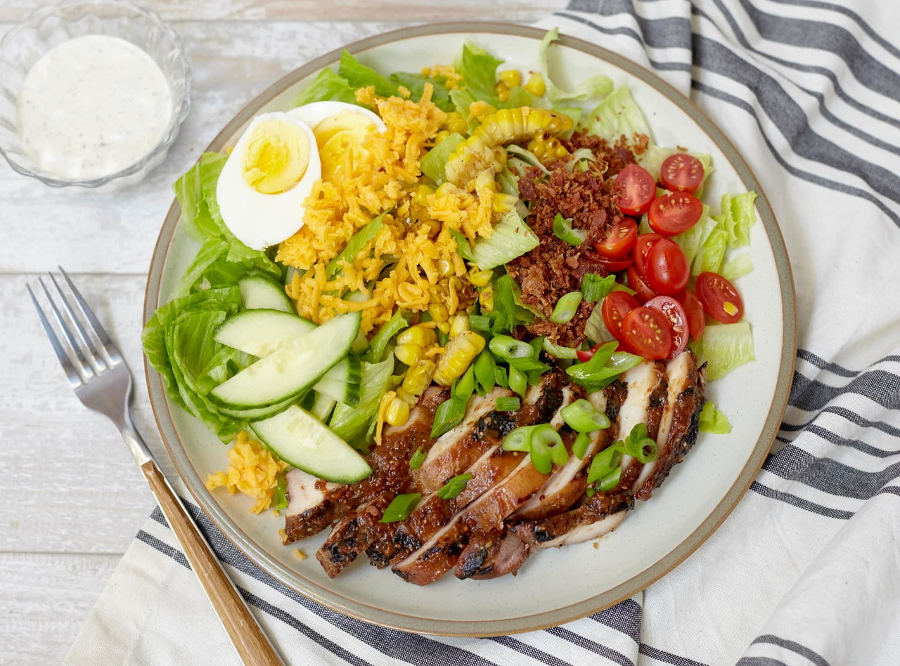 Southern Chefs Salad with BBQ Chicken by Chef Jenn Strange