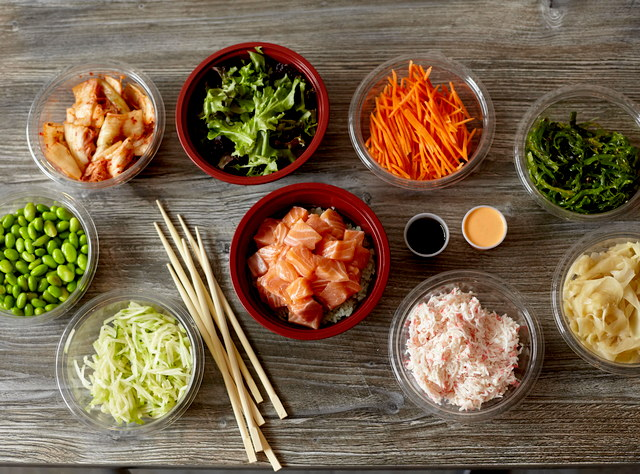 Salmon Poke Bowl by Chef James Pech