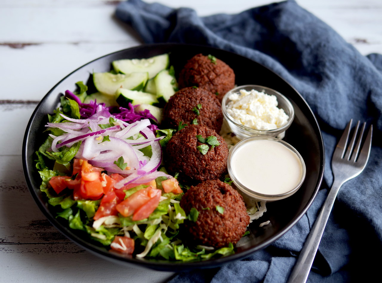 Falafel Salad by Chef Jood Elasmar