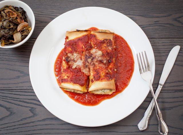 Braised Chicken & Ricotta Cannelloni by Chef Ron Anderson